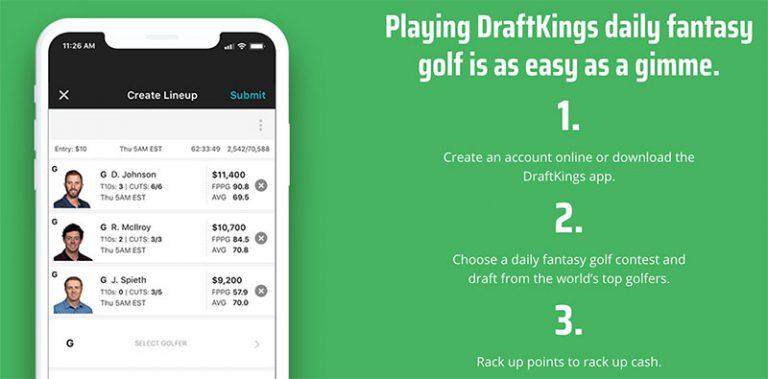 draftkings golf