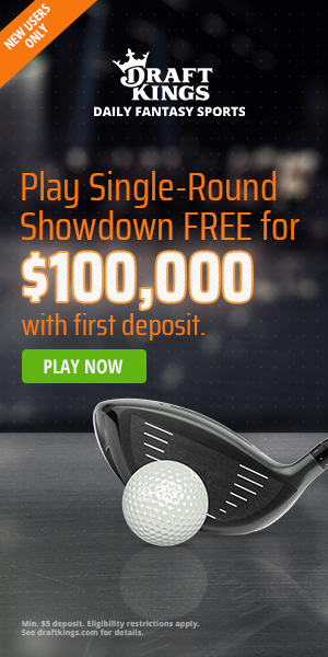 draftkings showdown pga